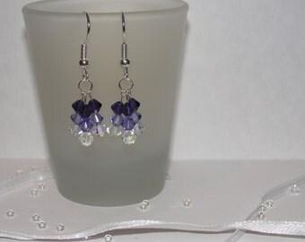 Swarovski crystal 3 piece earrings