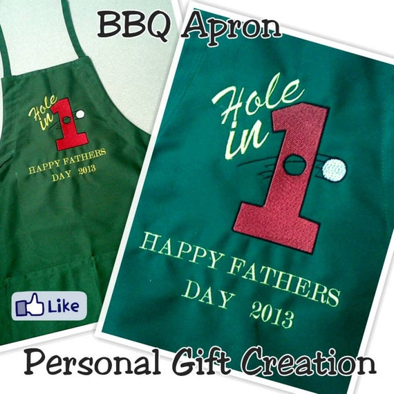 items similar to hole in 1 bbq apron personalized apron fathers day gift on etsy. Black Bedroom Furniture Sets. Home Design Ideas