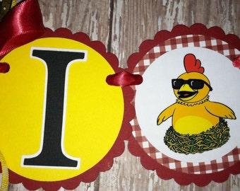 Chica Chicken High Chair Banner Chica Chicken Birthday
