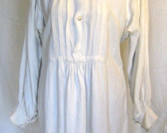Dress shirt in white linen thick neck and bottom of Indian Larry silk