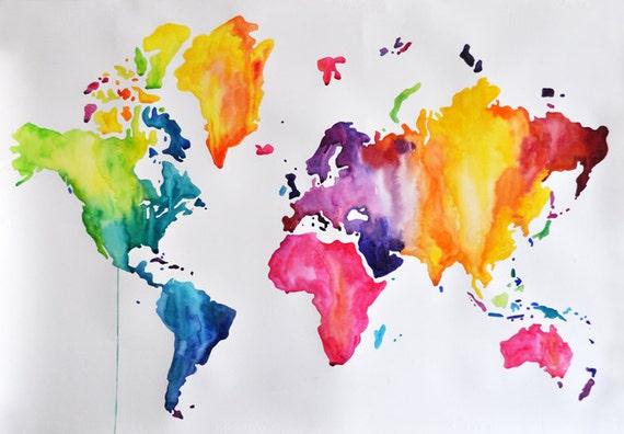 original abstract world map - photo #6