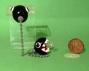 Mario Necklace Dog Stud Earrings