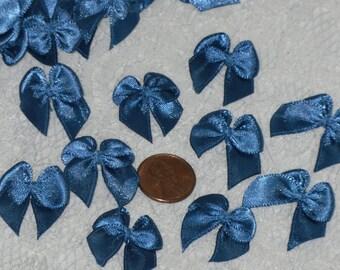 "Mini Butterfly Bows 3/8"" Blue Ribbon Embellishments Bag of 145"