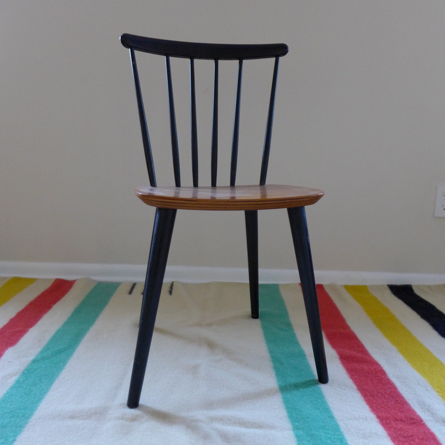 mid century modern spindle side chair farstrup by circa60smalls. Black Bedroom Furniture Sets. Home Design Ideas