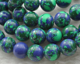 Phoenix Stone smooth round beads 8mm,47 pcs