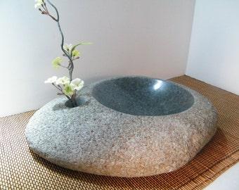 Centerpiece/ Ikebanna Vase/Natural Rock Bowl/Stone Bowl