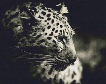 Portrait of a Leopard PDF Cross Stitch Pattern