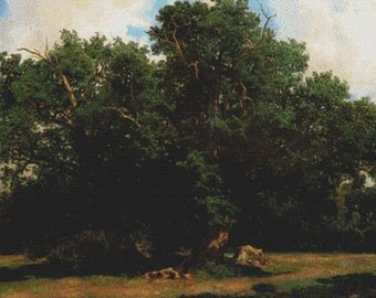 Oak Trees PDF Cross Stitch Pattern