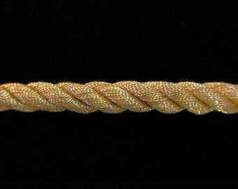 """312.2 Large Cord - antique-gold 1/4"""" (6mm)"""