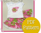 Baby, Toddler & Girls Appliqué Twirl Skirt Set PDF Sewing Pattern Digital Download