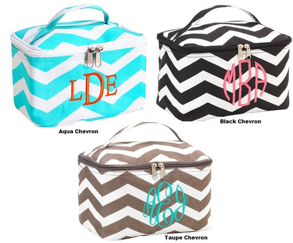 Personalized stylish Large Cosmetic bag- Great for traveling or decuttering the bathroom