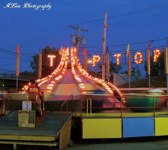 Tip Top-  Photography Print, Amusement Ride Photography, Amusement Park Photography, Summer Photography