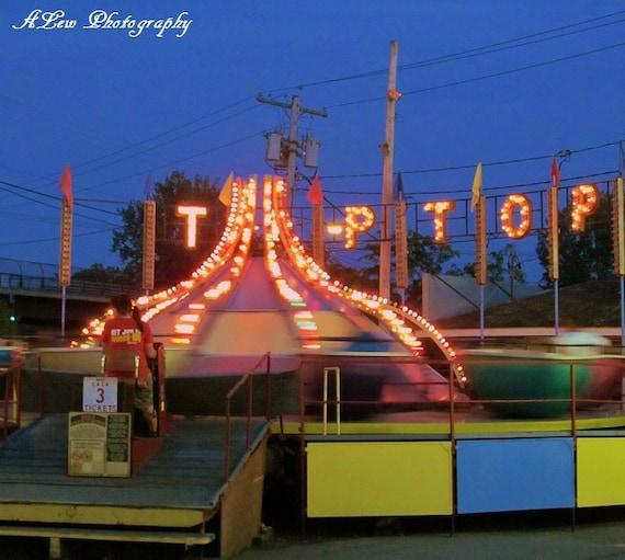 Tip Top-  Photography Print, Amusement Ride Photography, Amusement Park Photography, Summer Photography