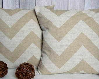 Chevron Pillows. Pillow Covers. Beige Pillows. Natural Pillows. Home Decor. Throw Pillows. Accent Pillows