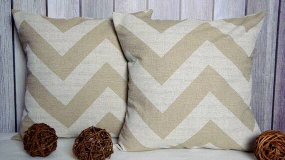 Chevron Pillows. Pillow Covers. Beige Pillows. Natural Pillows. Home Decor. Throw Pillows. Accent Pillows