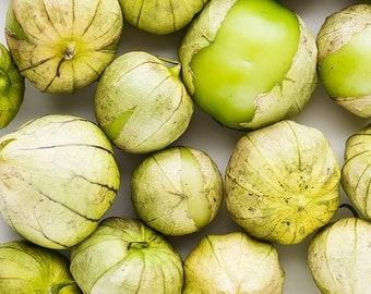 Tomatillos Close-Up, Food Photography, Fruit Photography, Restaurant Decor, Home Decor Kitchen Decor Dining Room Decor, Oversized Art, Green