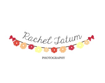"Custom Premade Photography Logo and Watermark ""Flower Banner"""