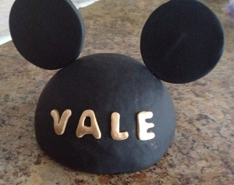 Fondant Mickey Mouse cake topper