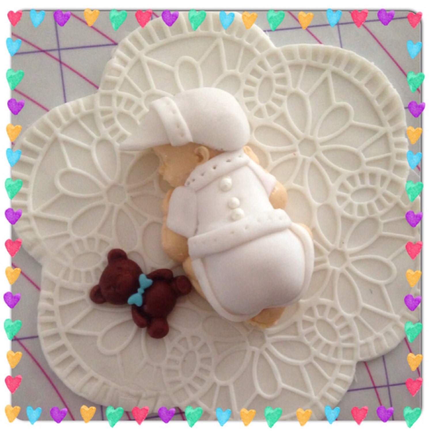 fondant baby edible baby shower party favors cake topper