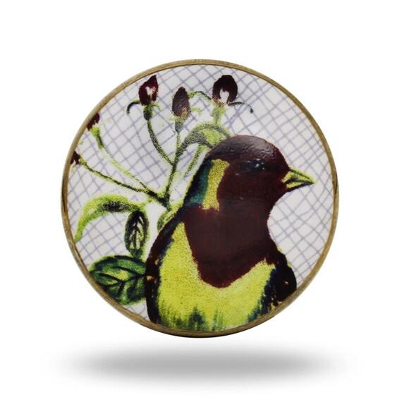 Perilla de PASSARO de cerámica con detalle de pájaro, Brasil ...