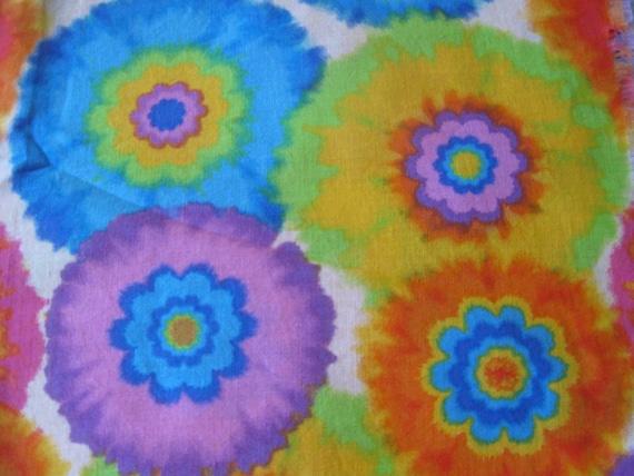 Cool Tye Dye Flowers Handmade Cotton Pillowcase By