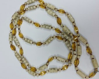 Bone & Glass Bead Necklace