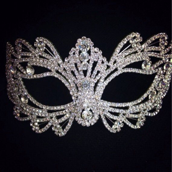 Best sell Rhinestone crystal masquerade mask by CaSales on ...