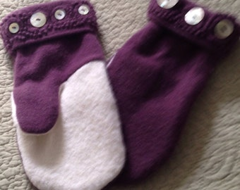 A3   Felted wool mittens small