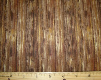 Per yard, Woodwork Brown Fabric