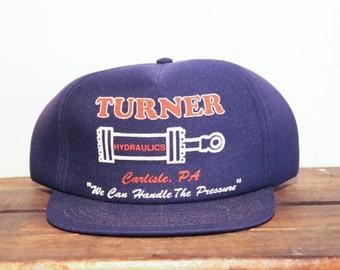 "Vintage Turner Hydraulics ""We Can Handle The Pressure"" Trucker Hat Snapback Baseball Cap"