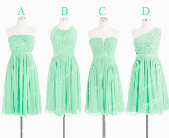 mint bridesmaid dresses, cheap bridesmaid dress, short bridesmaid dress, junior bridesmaid dresses, mismatch bridesmaid dress, BE0558