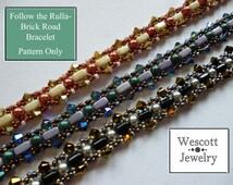 Pattern for Follow the Rulla-Brick Road Bracelet
