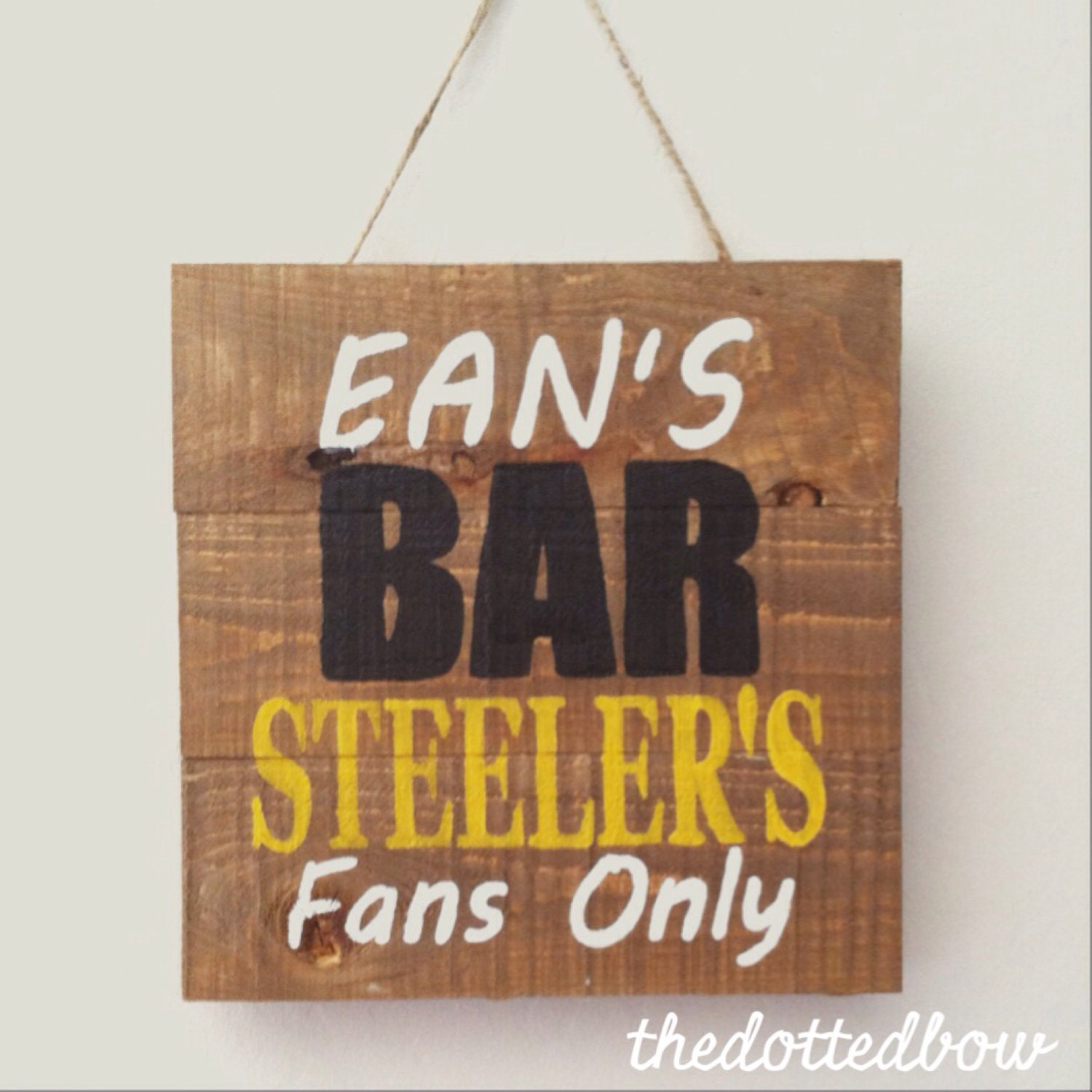 Personalized Man Cave Signs Etsy : Custom bar or man cave mini pallet sign by thedottedbow on