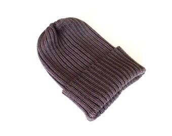 Babies/Children's virgin wool short beanie hat/toddlers/teens/ribbed/rib knit/gray/blue/boys/girls