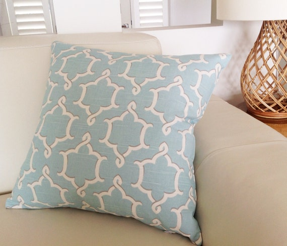 duck egg blue cushions robin egg blue linen pillows ivory. Black Bedroom Furniture Sets. Home Design Ideas