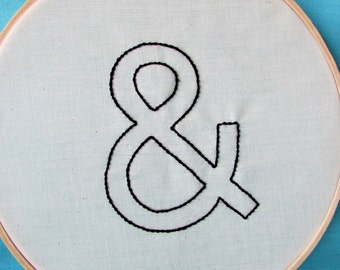 Hand Embroidery Pattern // Ampersand
