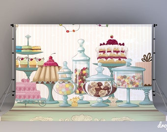 Candy Table - Photography Backdrop