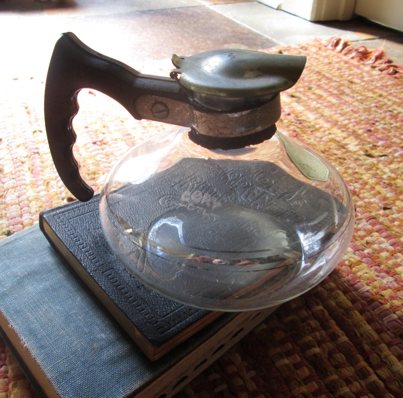 Vintage Cory Double Glass Vacuum Coffee Maker Bottom Bakelite