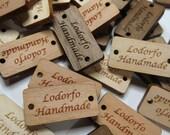 50 - .5 x 1 Custom Wood Tags - Custom Knitting Tags - Wood Gift Tags