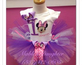 Girly Girl Minnie Mouse Tutu Set