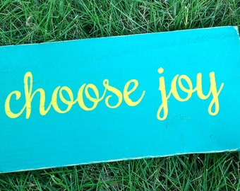 Choose Joy Wooden Sign