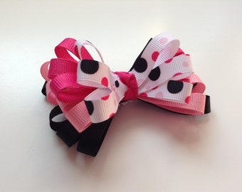 3 inch Bow Clip. Toddler 3 inch Bow Clip. Infant Hair Bow. Baby hair accessories. Girl Ribbon Clip