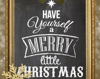 Christmas art chalkboard print  8x10 11x14 or 4x6 get yours in time for christmas