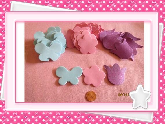 0: )- CABOCHON -( Glitter Foam Butterfly, Flower, Tulip