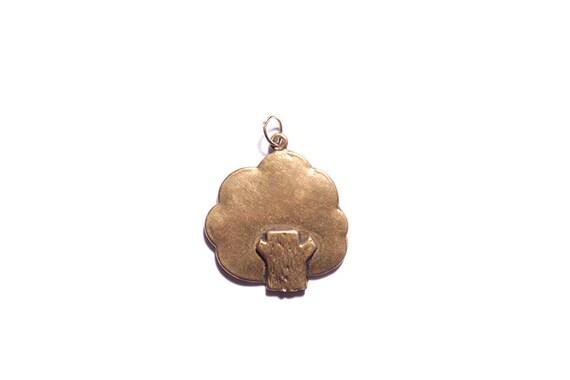 Antiqued bronze tree charm