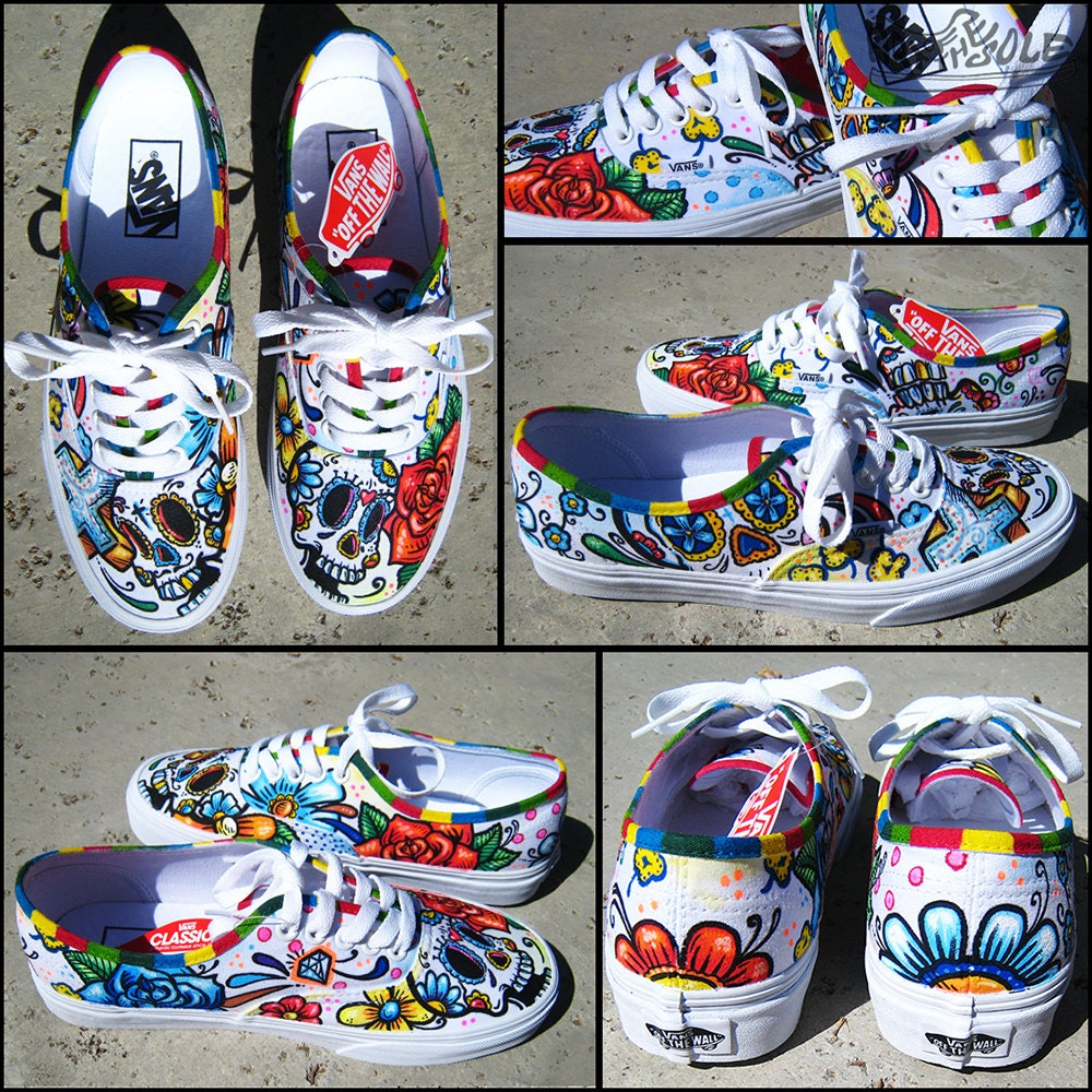Vans Authentic Custom Day Of The Dead...