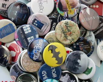 """SHERLOCK etc.  1.25"""" Button Pin Pinback Buttons"""