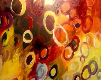 Painting- Thoughts Bubbling Over