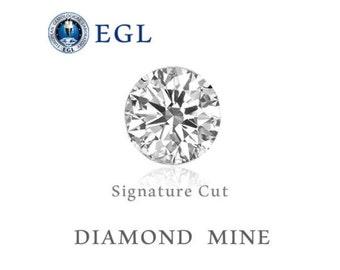 Loose Diamond VS1 D Round Brilliant EGL Certificate 2/3 CARAT