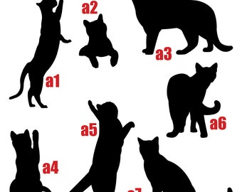 Cat Silhouette Wall Decal Sticker